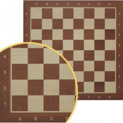 Chessboard No 6 - dark mahogany / inlaid (S-9/c)