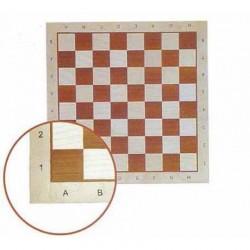 Chessboard No 6 - mahogany / inlaid (S-9)